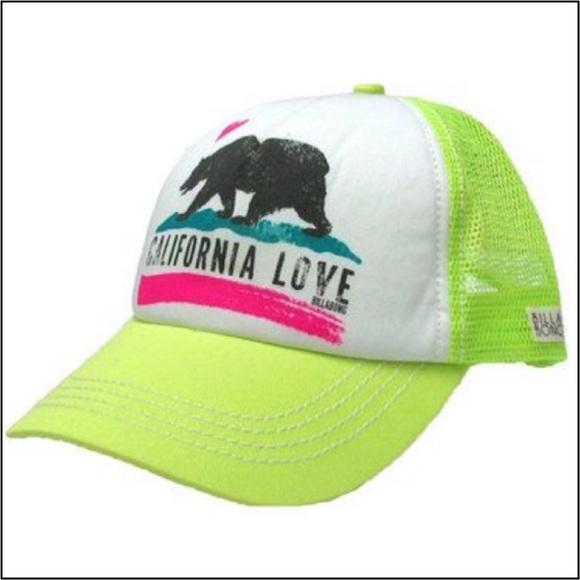 85b45fec5db23 Billabong Accessories - BillaBong Cali Love Neon Green Adjustable SnapBack